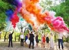 Цветной дым для свадьбы в Пушкино